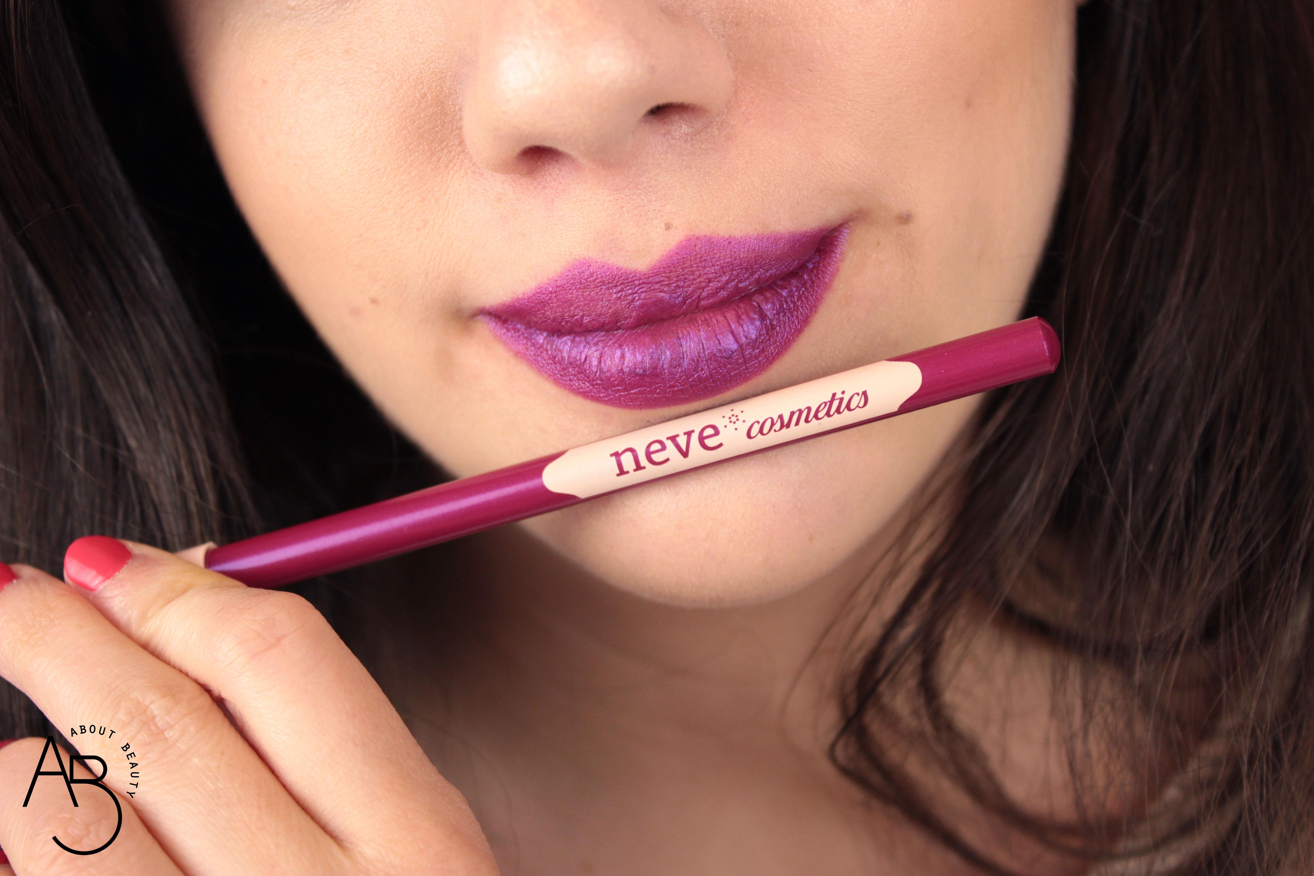 Neve Cosmetics Superheroine Collection - Matite pastello labbra lipliner - Info, review, recensione, prezzo, swatch, dove acquistare - Trance swatch