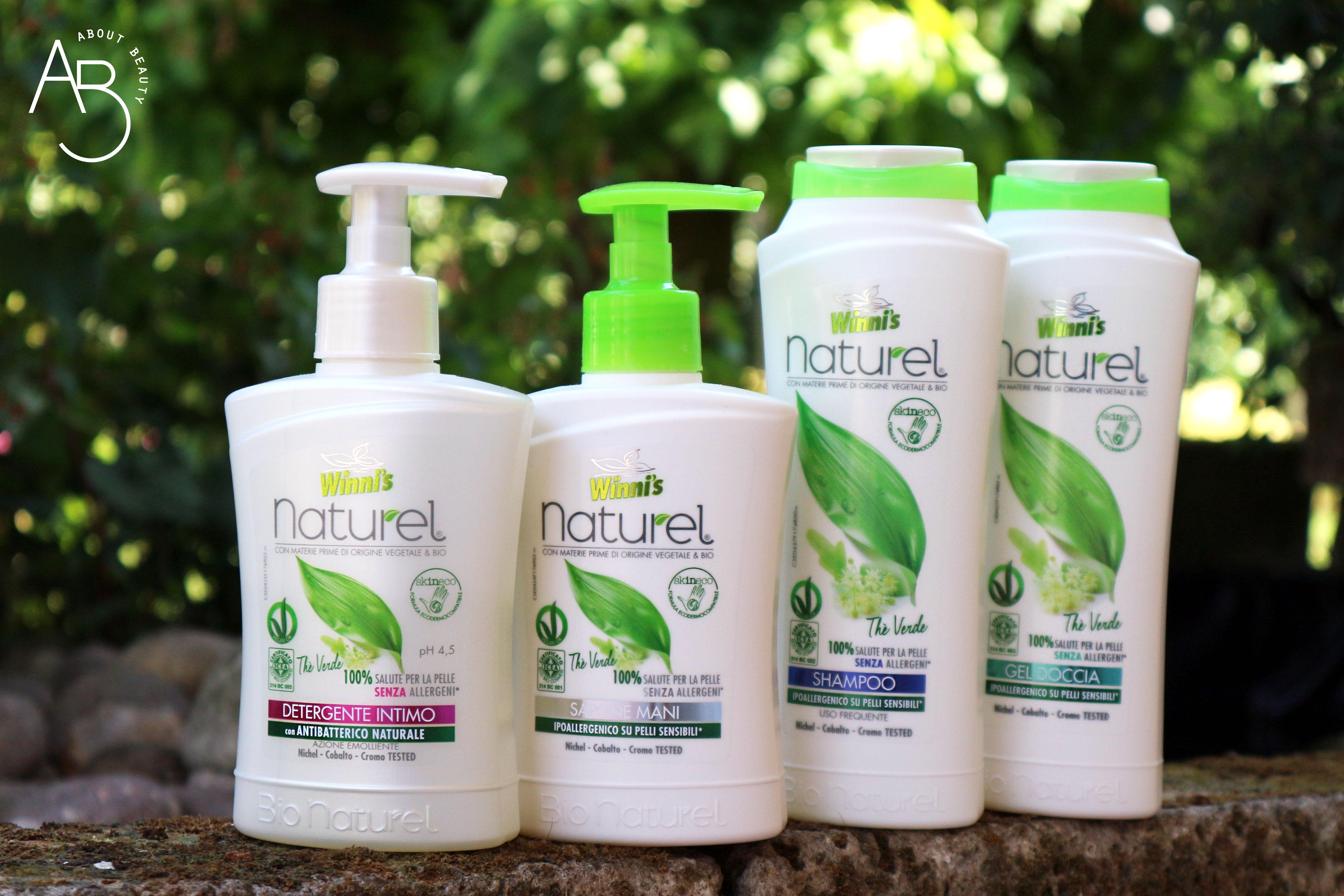 Winni's Naturel Cura della Persona - detergente intimo mani shampoo gel doccia te verde - info, opinioni, recensione, review, prezzo, dove acquistare - About beauty