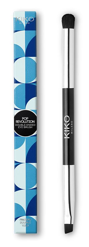 Kiko Pop Revolution - info review recensione prezzo swatch opinioni - Double ended eye brush pennello occhi doppio