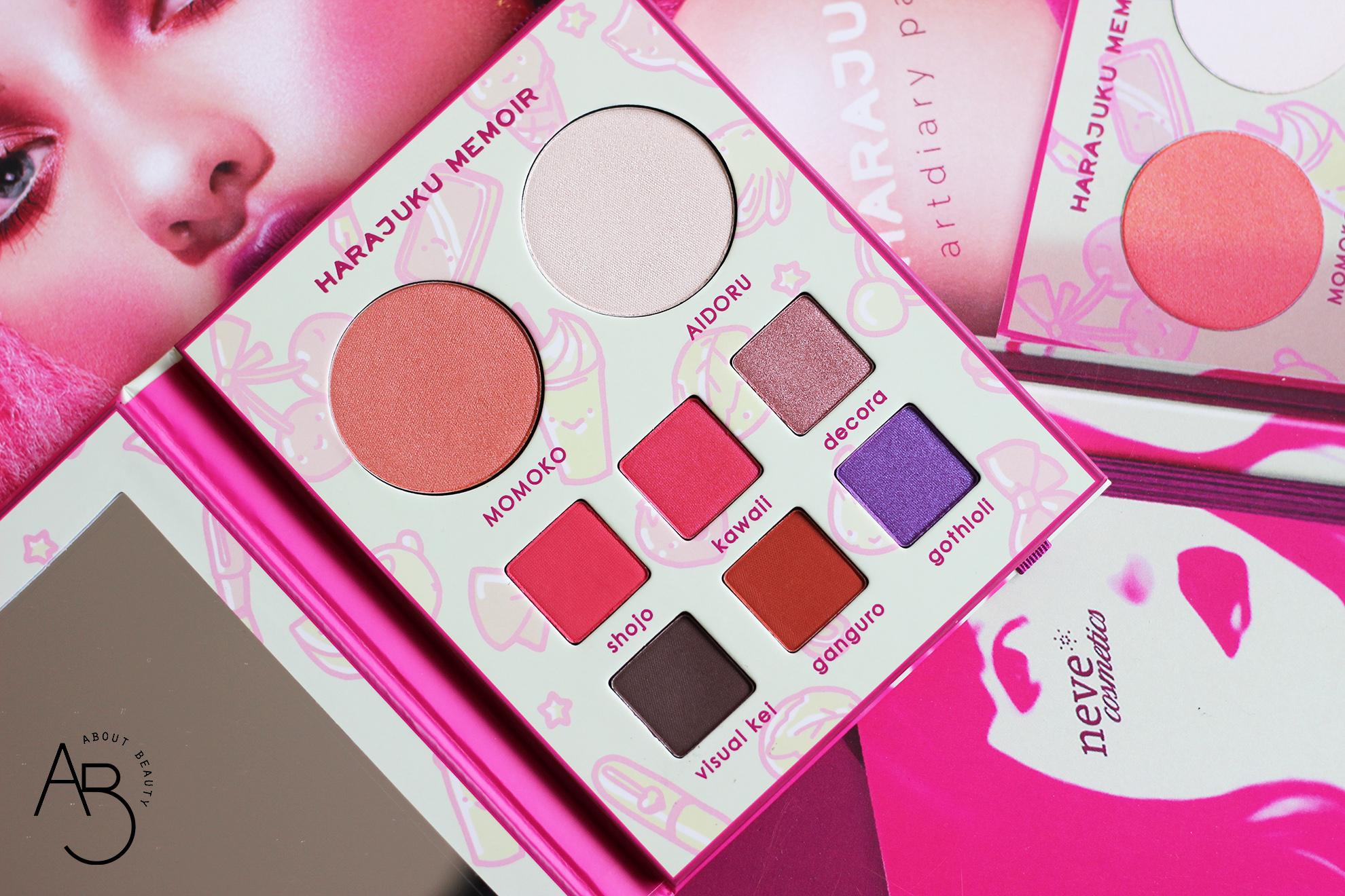 neve cosmetics harajuku memoir palette ombretti eyeshadow - info recensione swatch inci opinioni review tutorial codice sconto