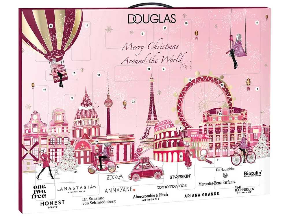 Migliori calendari avvento beauty 2020 low cost - Info prezzo dove acquistare contenuto - Douglas Merry Christmas Around the World